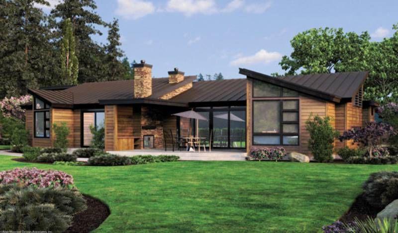 Planos casas con grandes ventanales buscar con google casa pinterest casas casas - Casas rurales grandes ...