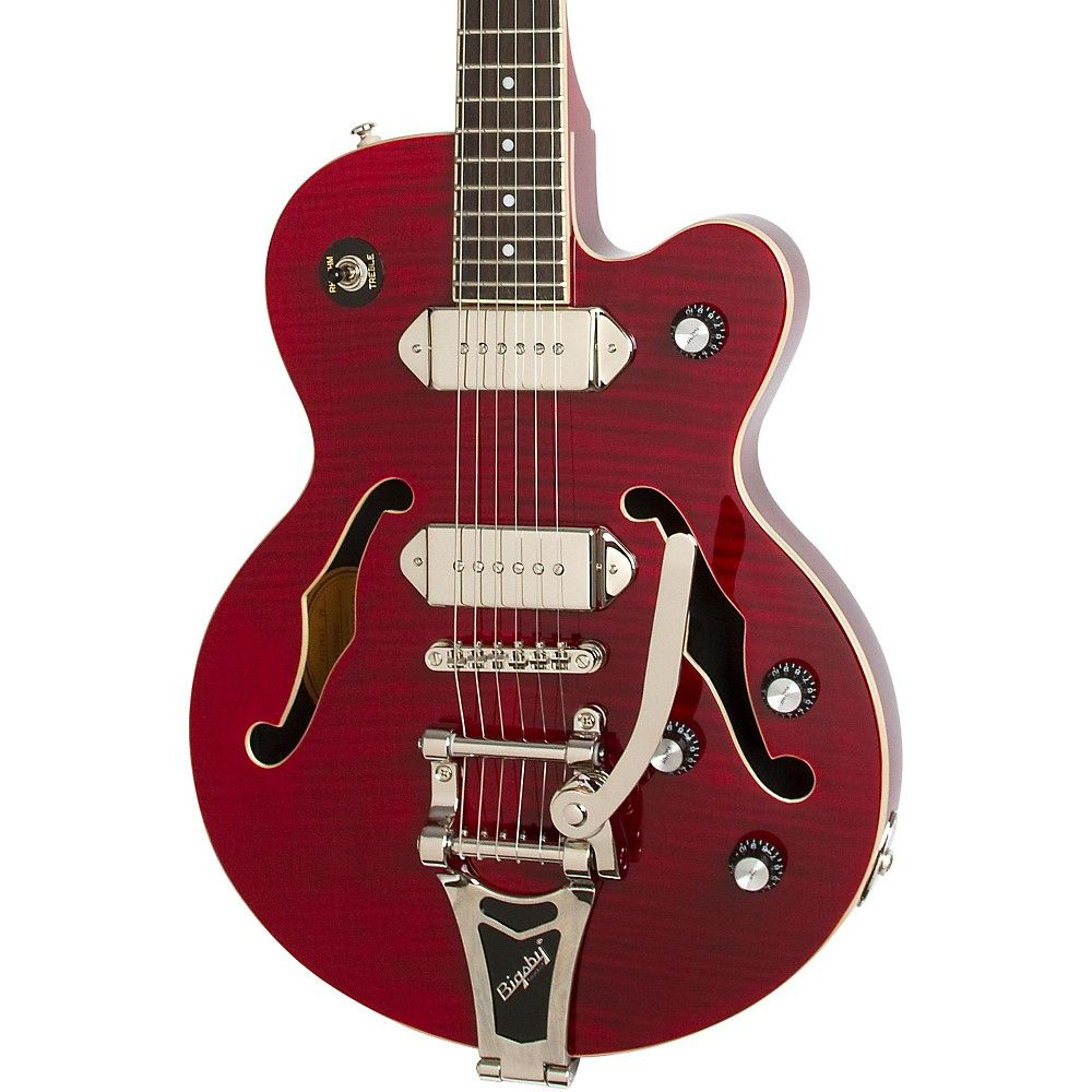 Epiphone Wildkat Semi Hollowbody Electric Guitar With Bigsby In 2020 Epiphone Guitar Electric Guitar