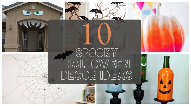 10 Spooky Halloween Decor Ideas! #crafts #diy #fall #holiday #home