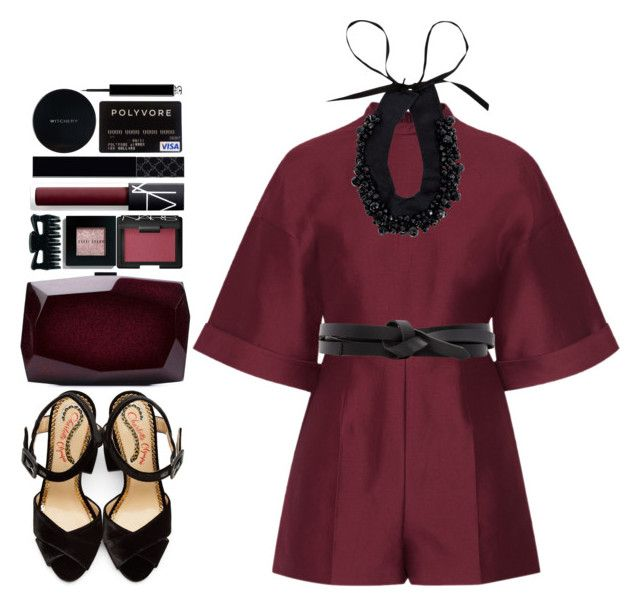 """""""#1127 Ava"""" by blueberrylexie ❤ liked on Polyvore featuring Valentino, Charlotte Olympia, Isabel Marant, Prada, Bobbi Brown Cosmetics, NARS Cosmetics, Monique Lhuillier, Christian Dior, Gucci and Witchery"""