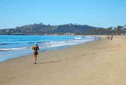 One of the most popular beaches in Santa Barbara is
