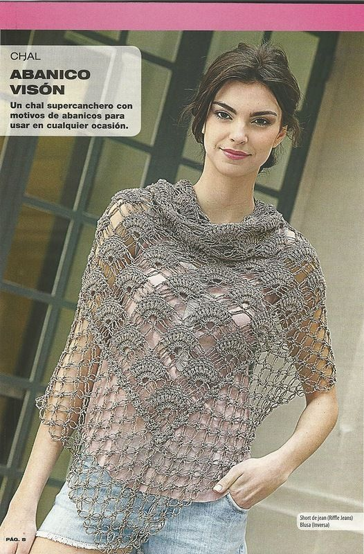 Otro de crochet | Bufandas | Pinterest | Chal, Ponchos y Tejido