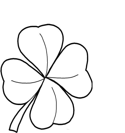 Printables Four Leaf Clover Good Coloring Pages