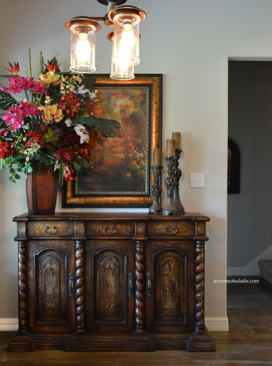 Old World Hand Painted Furniture Dining Room Buffet