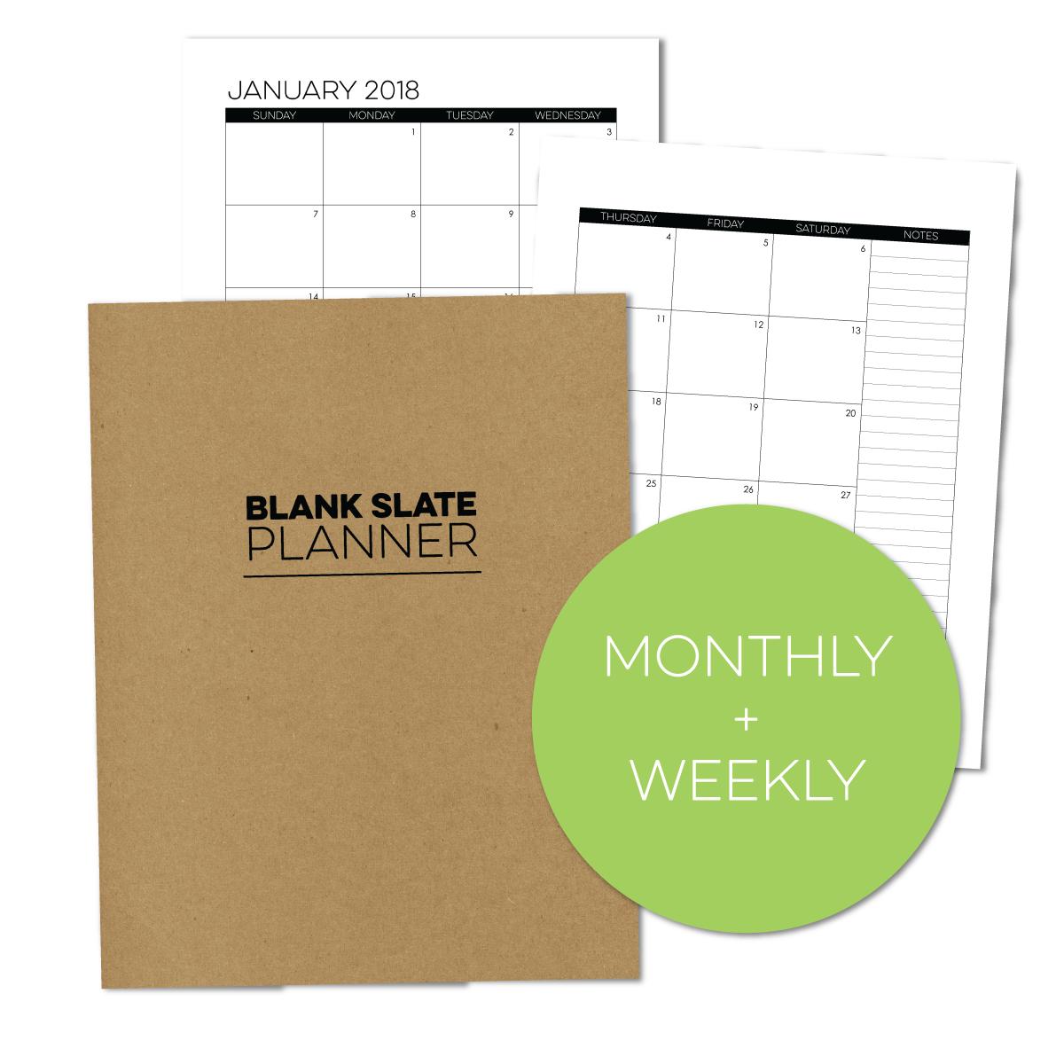 7x9 Blank Slate WEEKLY PLANNER | Limelife Planners | Pinterest ...