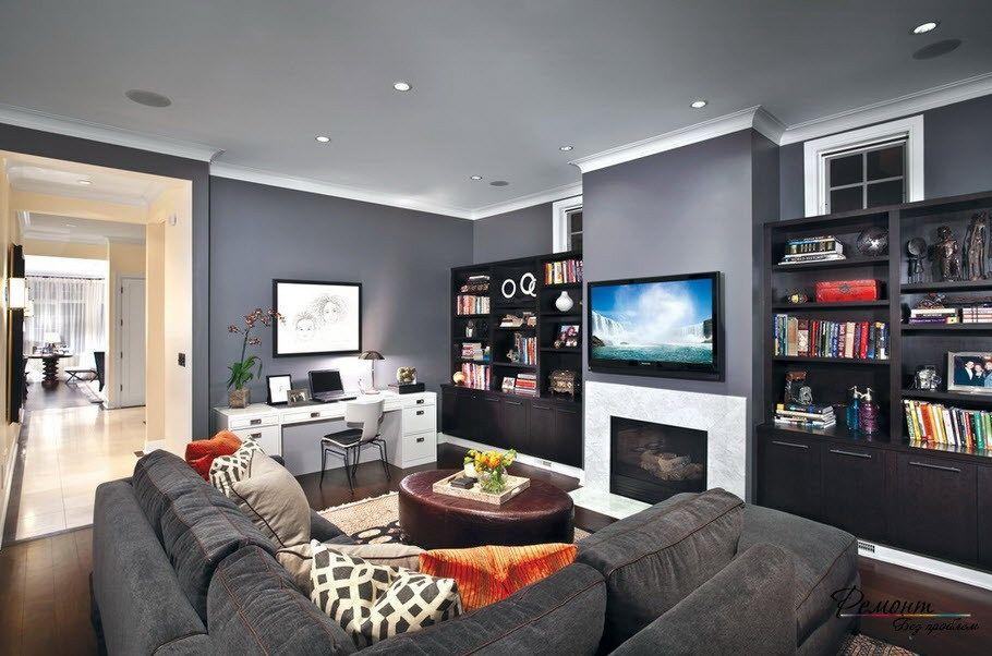 Image Result For Computer Desk In Living Room Desk In Living Room Classic Living Room Interior Design