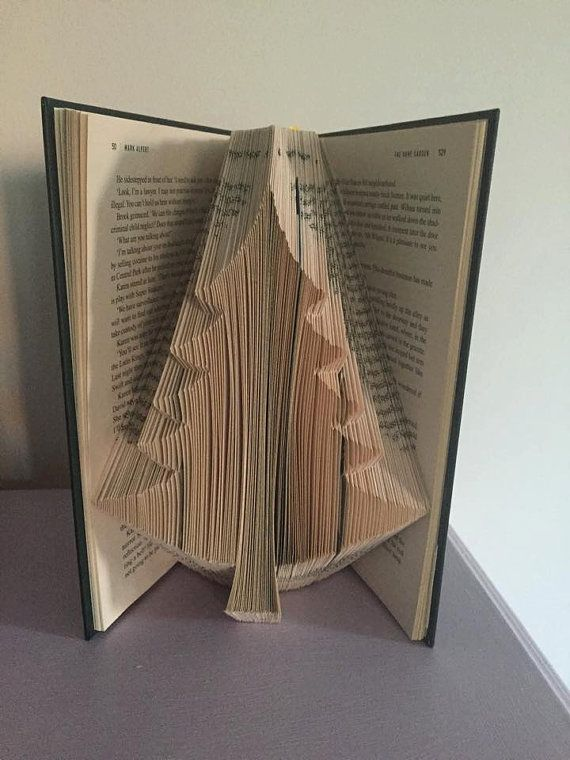 Book Folding Pattern For A Large Christmas Tree Pine Tree Etsy Book Folding Patterns Book Folding Book Folding Patterns Free Templates