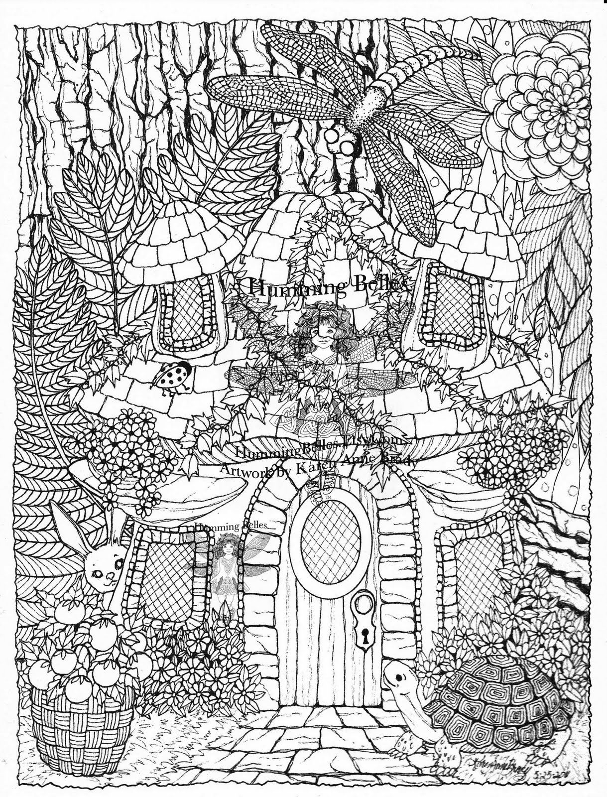 Pinterest christmas adult coloring pages - Detailed Coloring Pages For Adults Irelandbrady Musings To Ponder Humming Belles