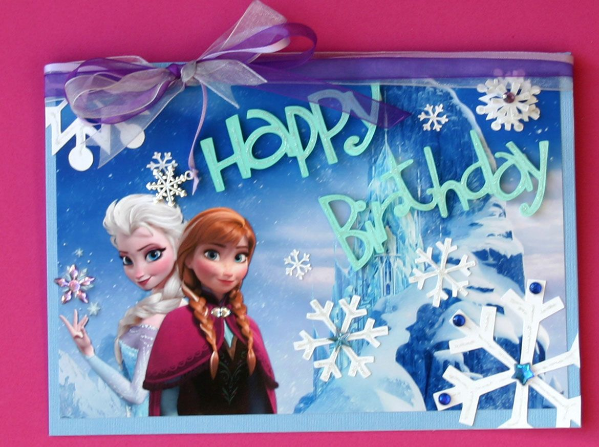 Frozen Card For My 3 Year Old Granddaughter Cut Outs Made Using Cricut Expression