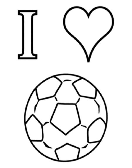 ik houd voetbal kleurplaat tekenen kleuren
