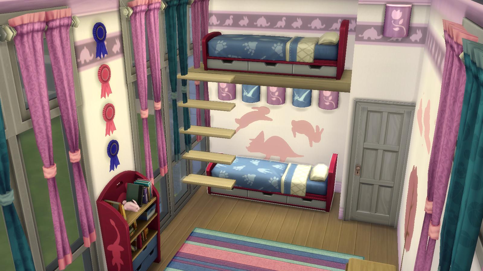Modern twin girl's room Bedroom Ideas Sims 4 bedroom