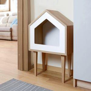 Premium Cat House Cat House Oak Wood Cat House Cat Tree Pet Cot Cat Bed Pet Bed Indoor Cat House Pet Furniture Design