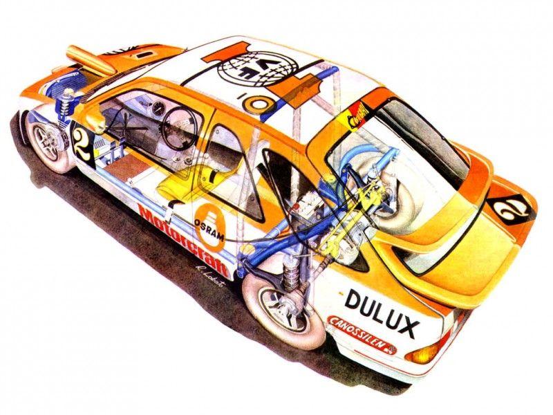 1988 Ford Sierra RS Cosworth artwork