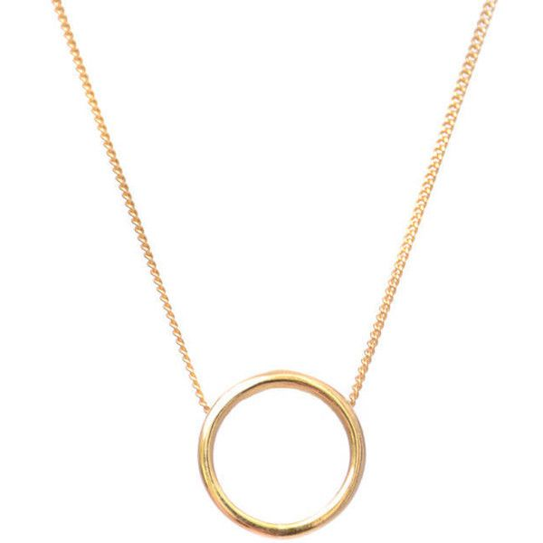 Lee Renee Halo Necklace Gold Vermeil (100 CAD) ❤ liked on Polyvore featuring jewelry, necklaces, vermeil necklace, gold vermeil jewelry, gold vermeil necklace and vermeil jewelry