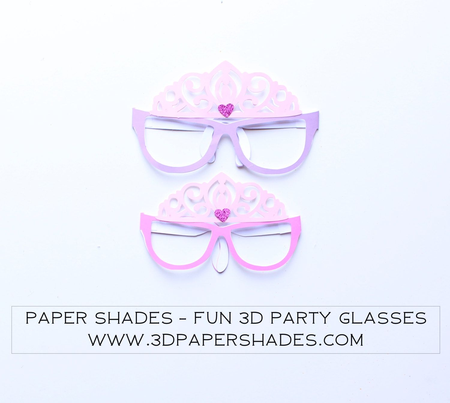 3D Glasses Princess Themed Party Photo Booth Props/Photobooth Props ...