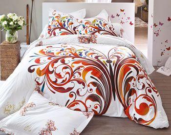 Housse de couette motif, linge de lit imprimé