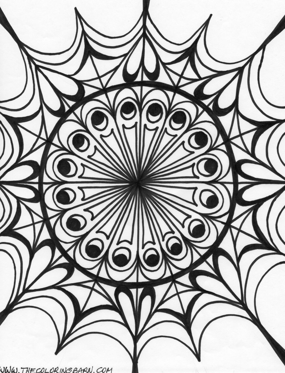 Free Printable Kaleidoscope Coloring Book Pages  Coloring pages
