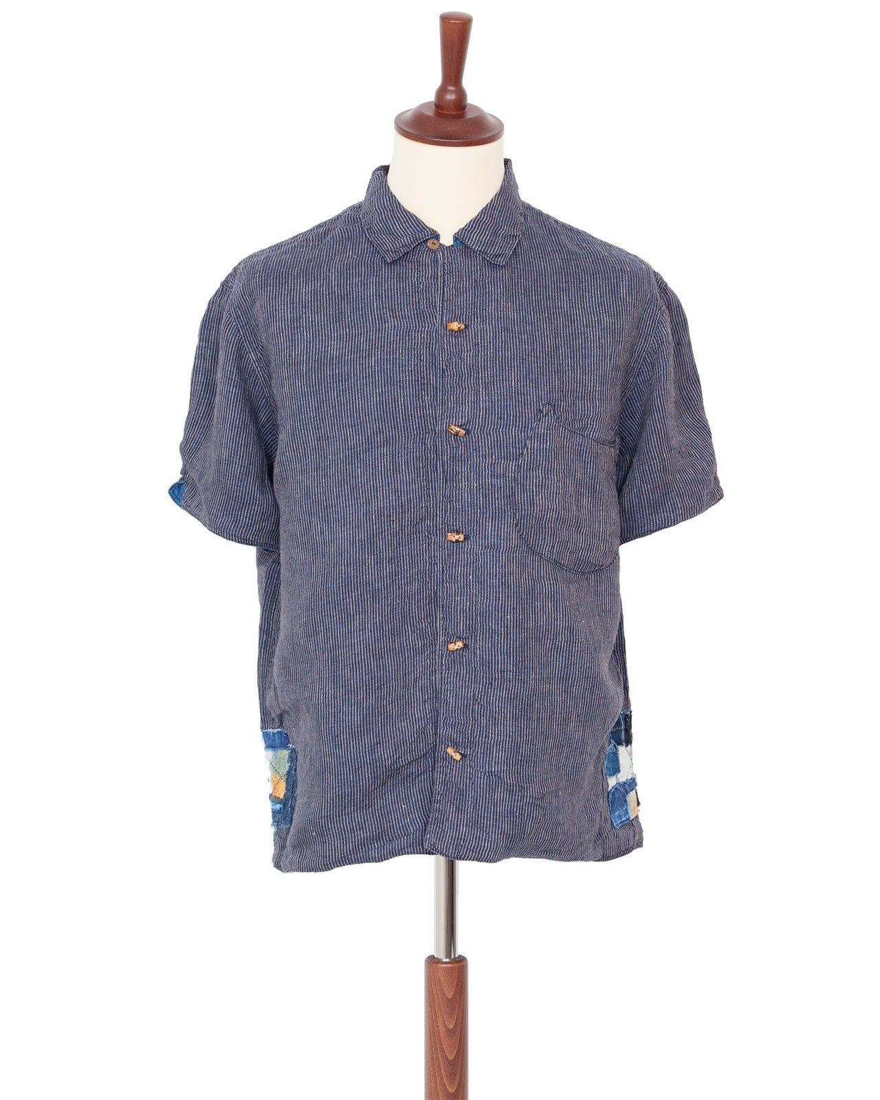 de4b5a02 Kapital Indigo Linen Bamboo Stripe Aloha Shirt | Overflow (blues ...