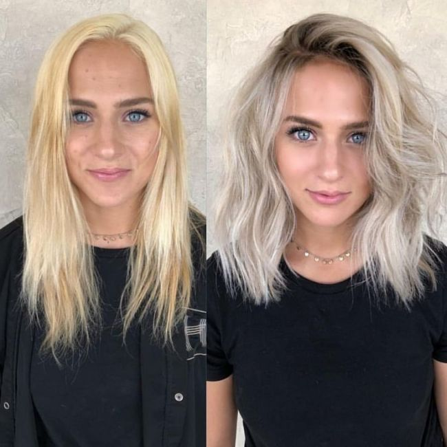 Cool Ash Blonde Balayage Shades Silver Shoulder Length Straight Beige Sandy Icy With Images Ash Blonde Hair Colour Fresh Hair Hair Styles