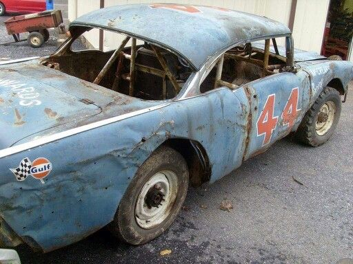 Old Chevy Stock Car 44 With Images Stock Car Old Race Cars
