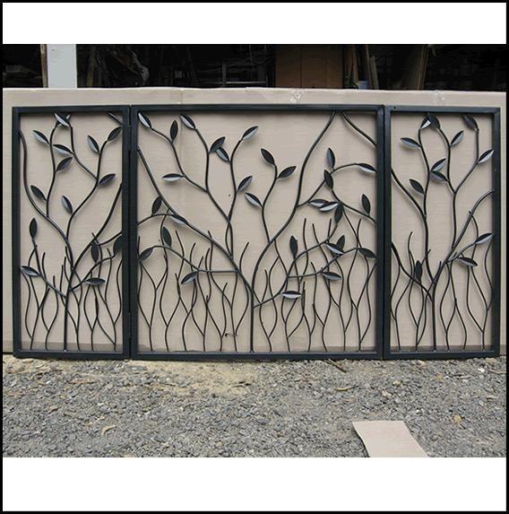 Portail fer forg porte ext rieur gates pinterest for Porte exterieur fer forge tunisie