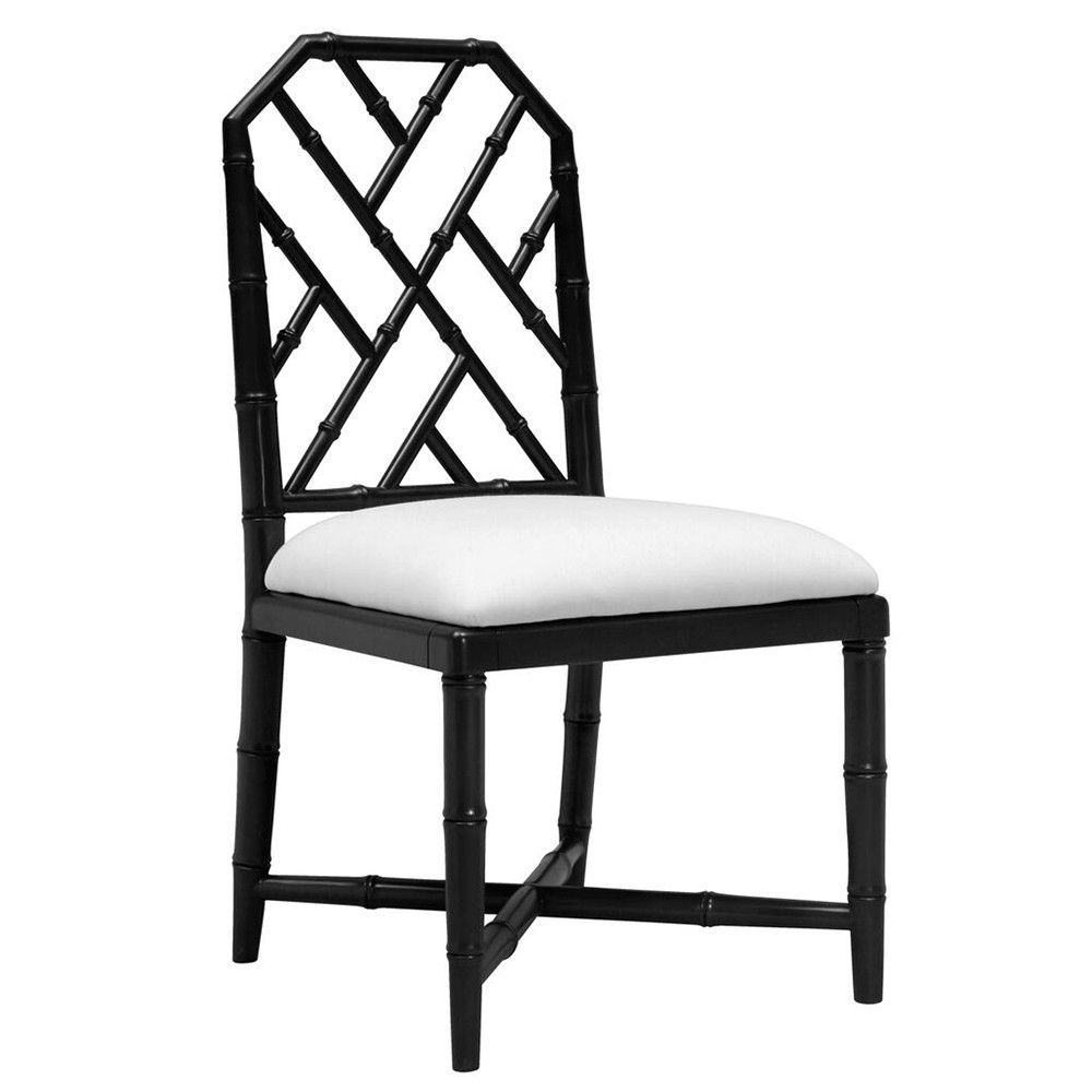 Amazing Regency Side Chair Black Lacquer Bamboo Dining Chairs Gmtry Best Dining Table And Chair Ideas Images Gmtryco