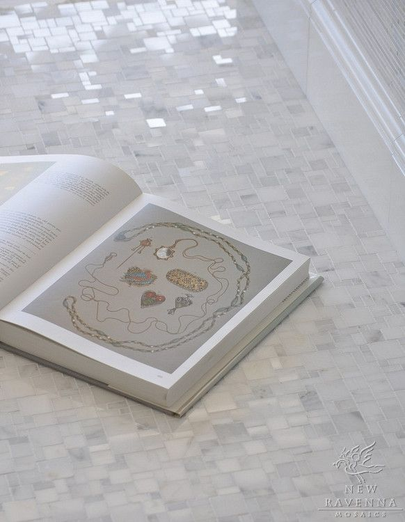Mini-Versailles shown in Stauary Carrara polished  THIS is the floor we are putting in our downstairs bathroom
