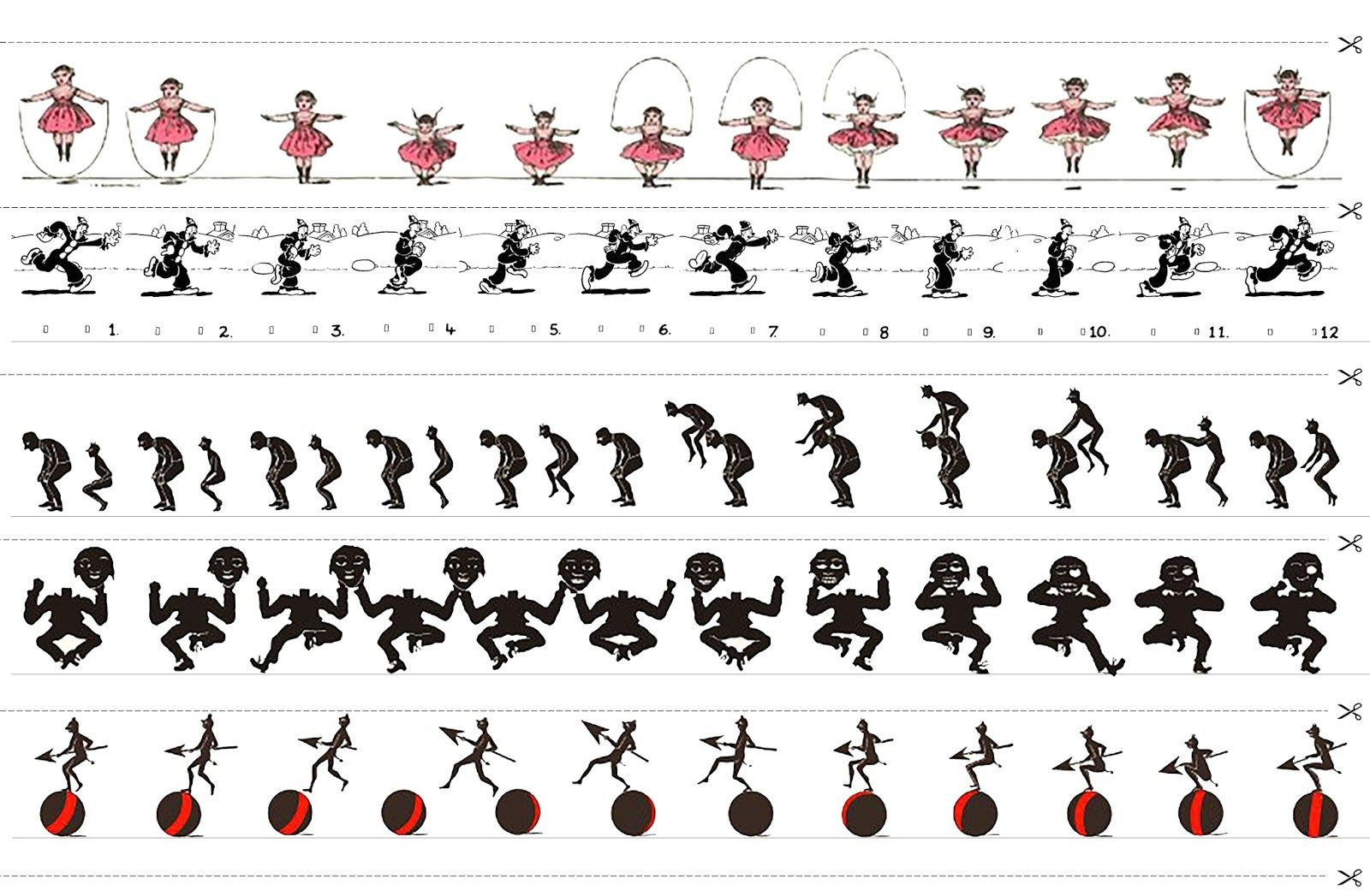 Animaciones clásicas para Zootropo (con imágenes) | Cine de ...