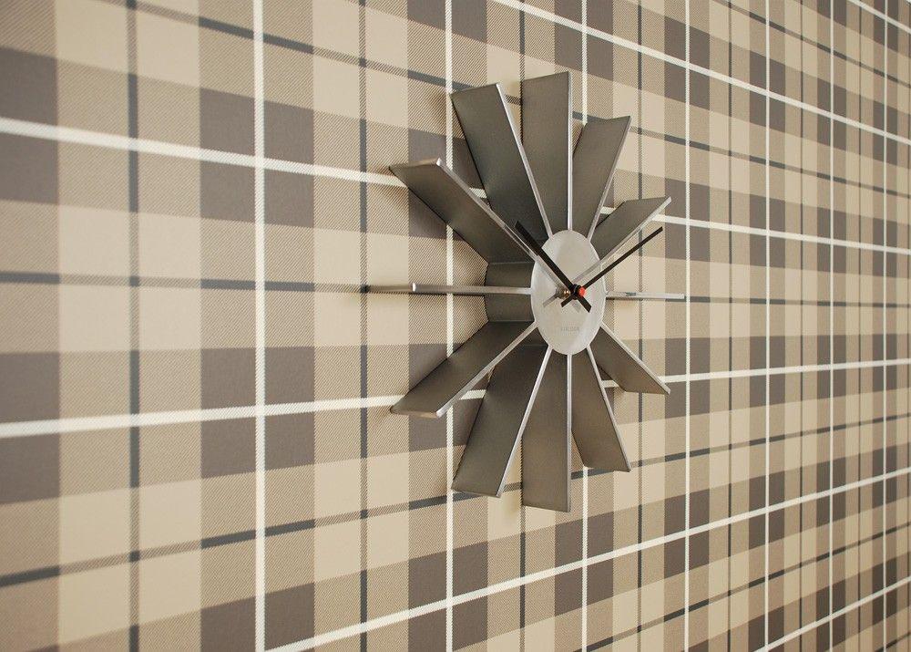 Tapete mit Karos RANOLD braun von Sandberg Wohnzimmer Pinterest - wohnzimmer beige karo