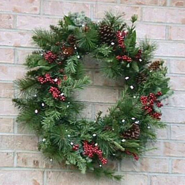 christmas traditions 24 in solar winterberry wreath
