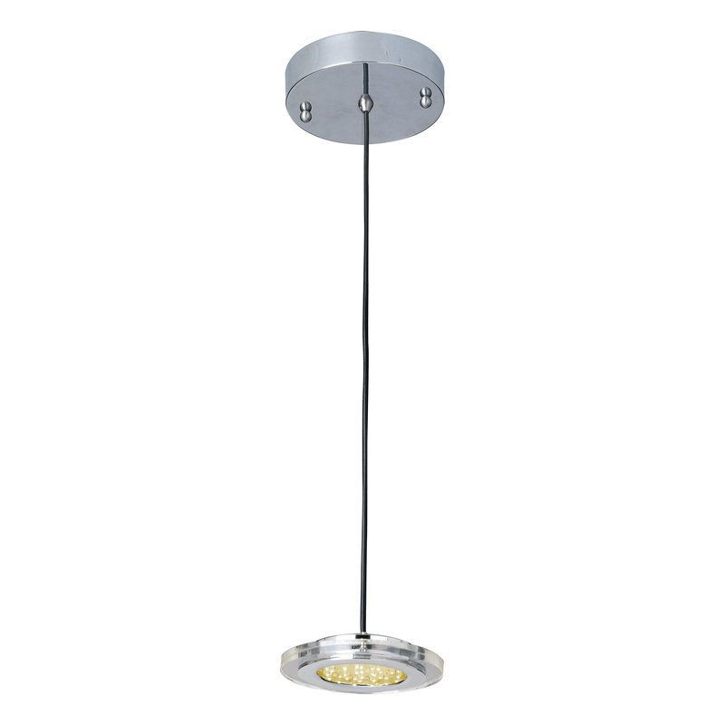 View The Et2 E30071 1 Light 23 Wide Pendant From The L E D 1 Collection At Polished Chrome Pendant Lighting Led Pendant Lights