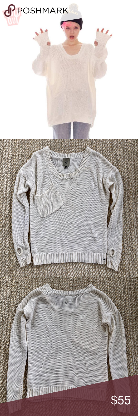 One teaspoon white chunky knit sweater thumb holes One teaspoon white chunky knit jumper/sweater with thumb holes.what an awesome sweater.oversized fit with thumbholes-got to love that One teaspoon white chunky knit sweater thumb holes One teaspoon white chunky knit jumper/sweater with thumb holes.what an awesome sweater.oversized fit with thumbholes-got to love that #chunkyknitjumper