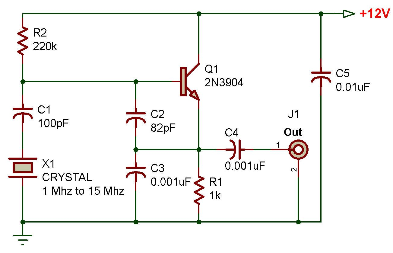 Http Www Zpag Net Electroniques Oscillators2 Crystal Oscillator 1mhz 20mhz Html Electronics Circuit Electronics Basics Electronic Engineering