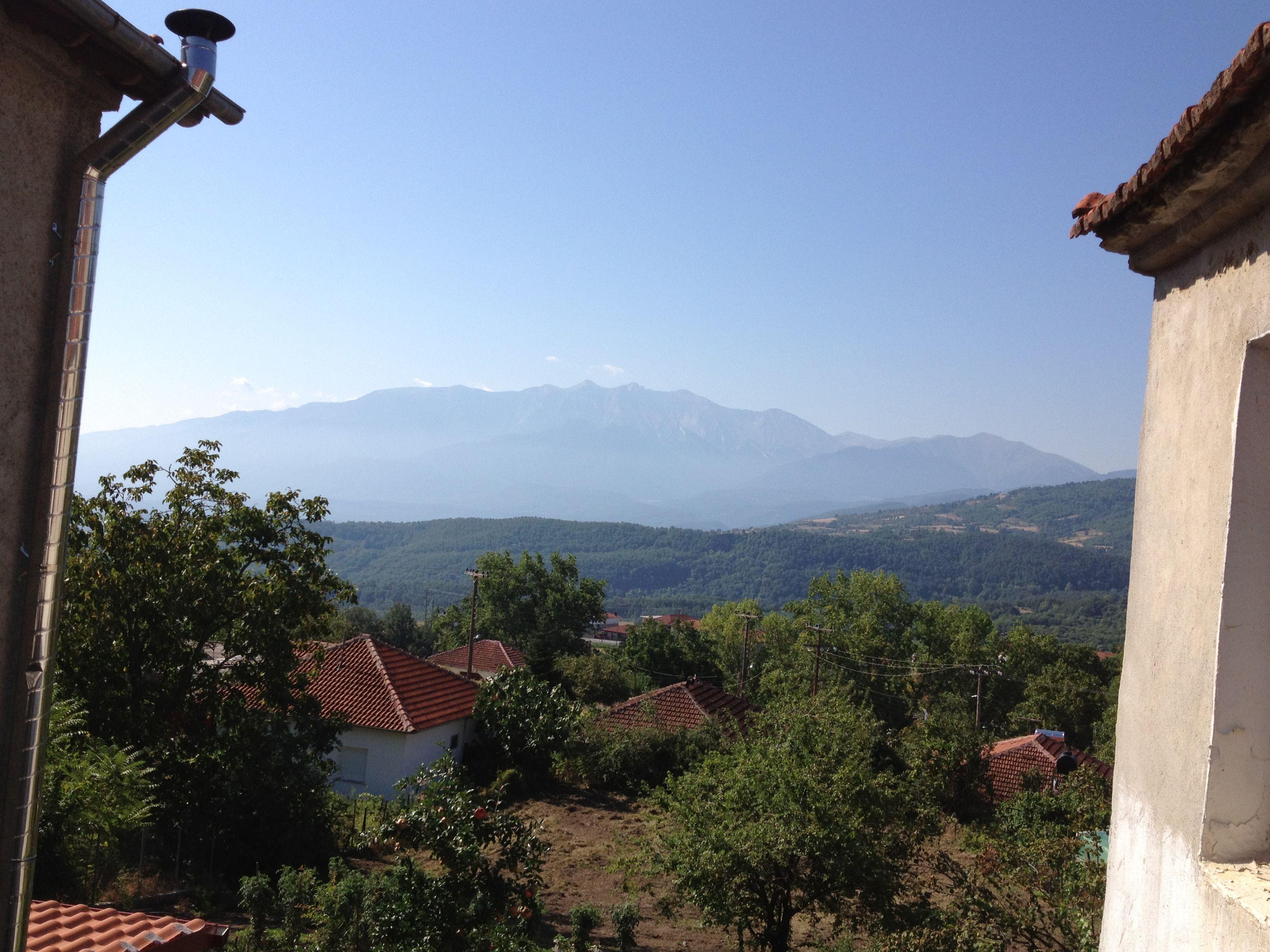 Olymp (view from Grandmas balcony in Greece)