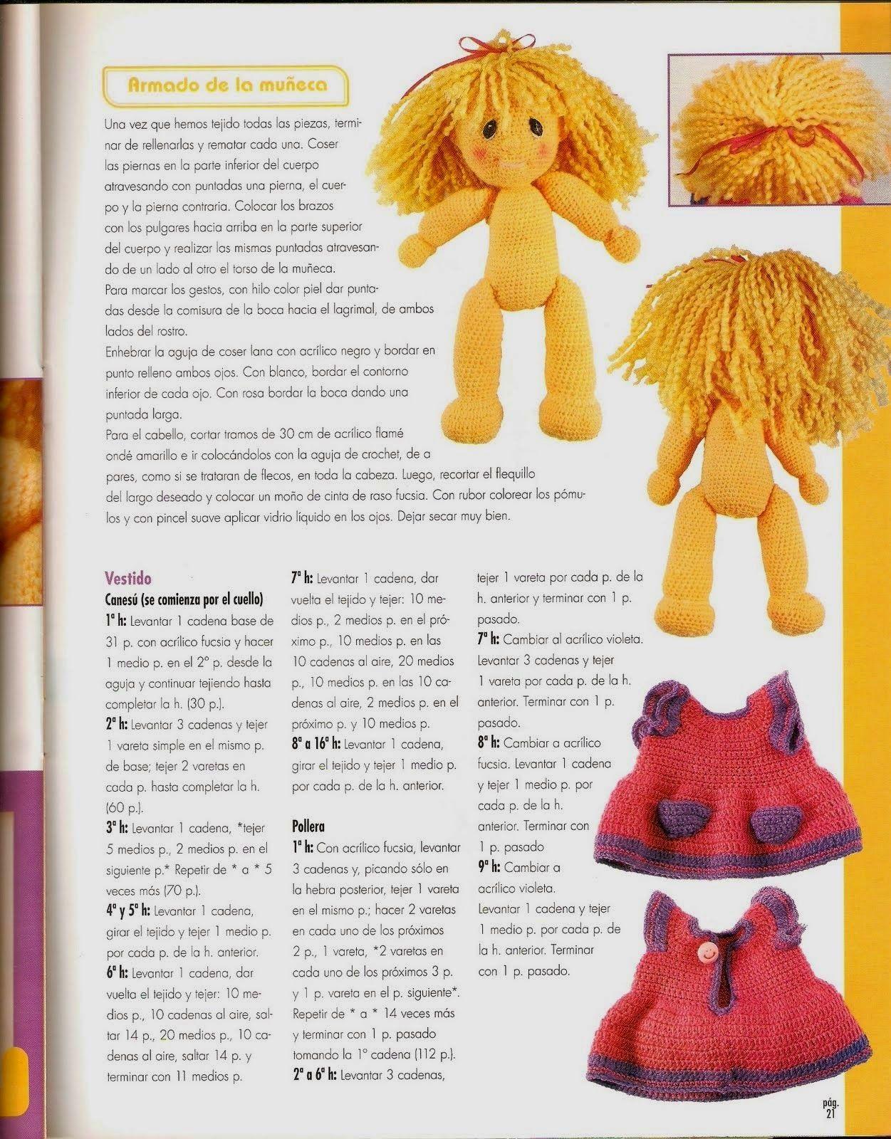 Resultado de imagen de muñecas crochet peponas | Amigurimis ...