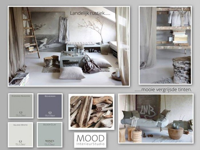 inrichting slaapkamer landelijke stijl grijs blauw - Google zoeken ...