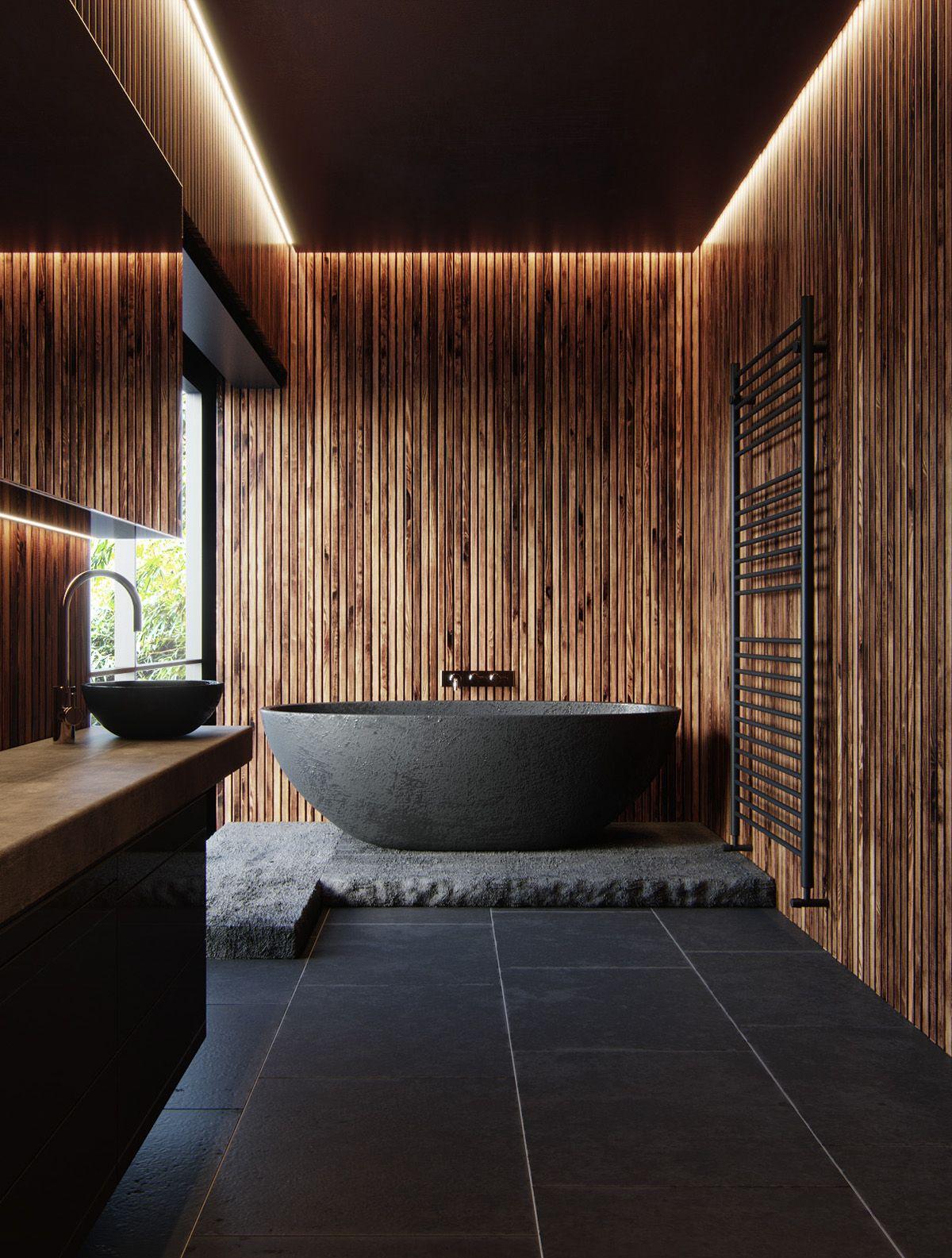 Dark Wood On Behance With Images Minimalism Interior Minimal