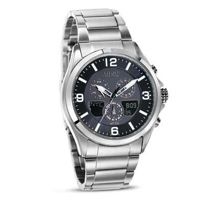 Men 39 s citizen eco drive chronograph watch with black dial model jr3180 57e zales watches for Watches zales