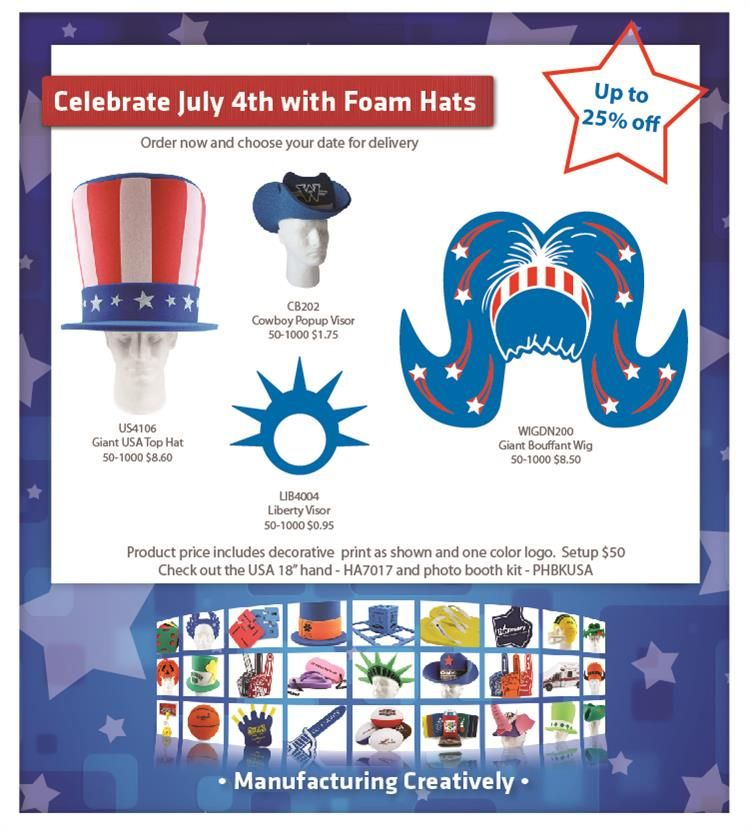 July 4th Will Be Here Before We Know It Order Your Fun Red White