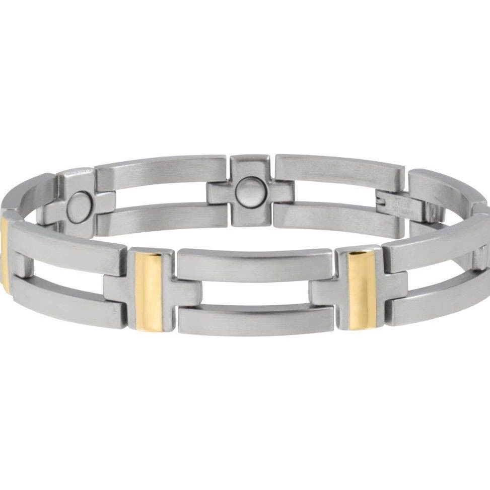Sabona executive crossbar duet magnetic bracelet medium menus
