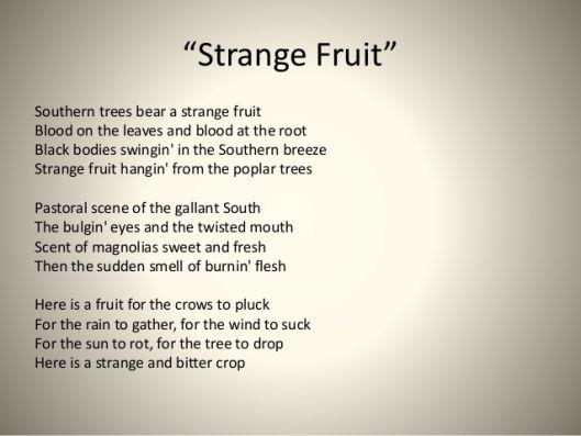 fig fruit strange fruit poem