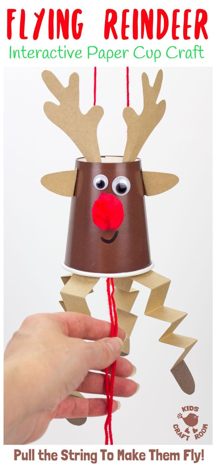 Flying Reindeer Puppets