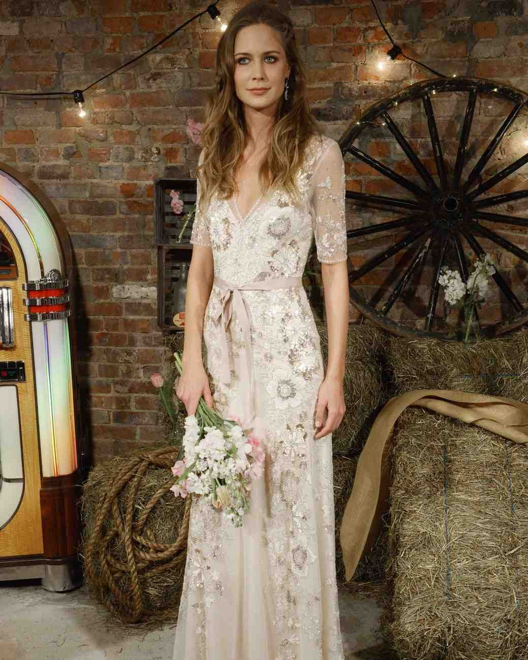 Jenny Packham unveiled her newest collection of wedding dresses. See ...