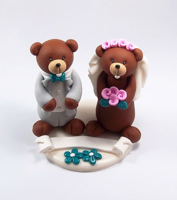 Custom Wedding Cake Topper Gophers Couple by HeartshapedCreations, $69.00