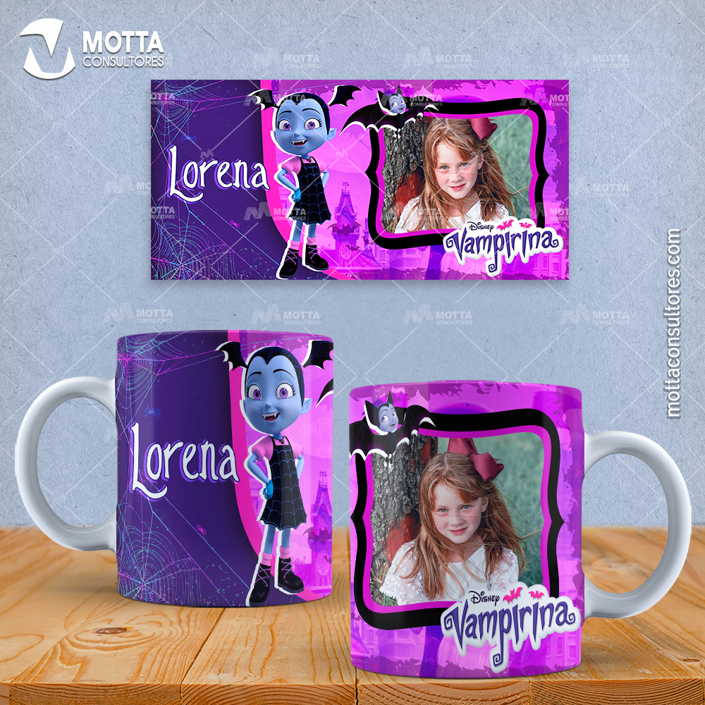 Disenos Mugs Infantil De Dibujos Vampirina Con Foto Tazas Con Fotos Tazas Tazas Personalizadas