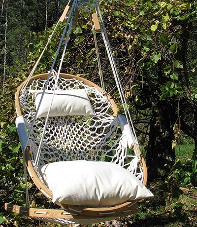 hanging hammock chair by cobble mountain hammock co. Black Bedroom Furniture Sets. Home Design Ideas