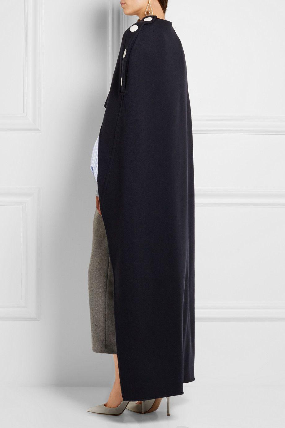 Marni | Draped wool cape | NET-A-PORTER.COM