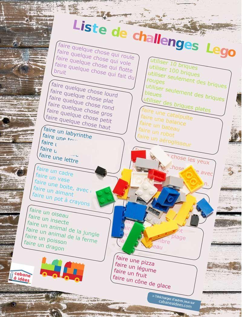 liste de challenges lego pour l ete a telecharger sur le site pour occuper