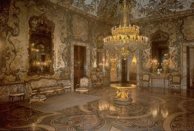 Palacio Real, Salon de Gasparini   Madrid, Spain