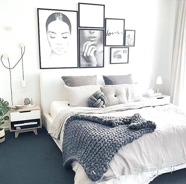 Grey and white bedroom also thi   phong ng in pinterest rh